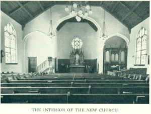 interior of 1914 church