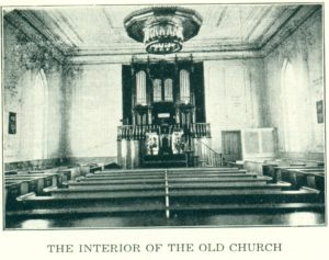 interior of the old church
